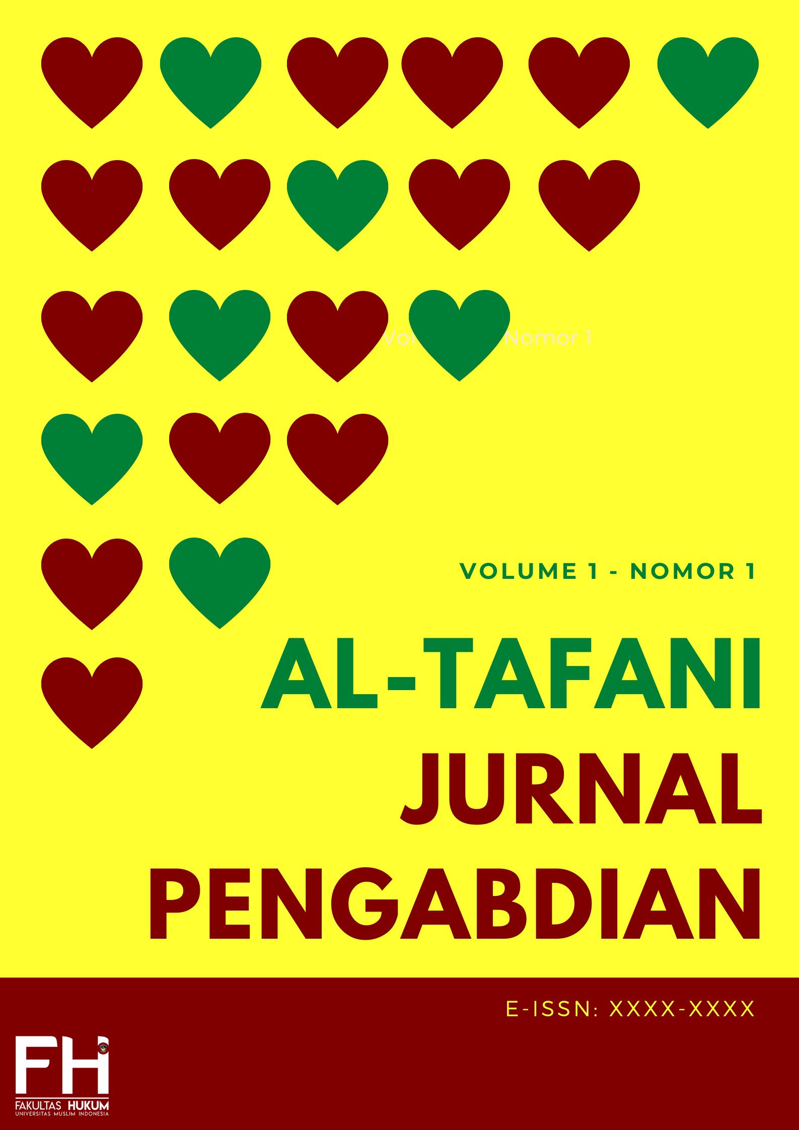 jurnal pengabdian; fakultas hukum; jurnal hukum; fhumi; al-tafani; tafani;
